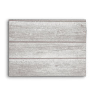Rustic Country Vintage Wood 5 x 7 Envelope
