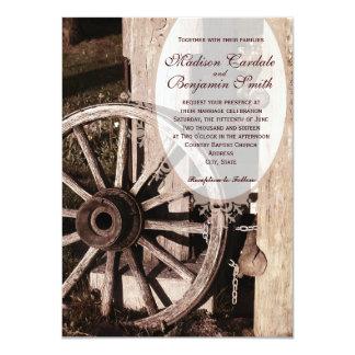 Rustic Country Wagon Wheel Wedding Invitations Invites