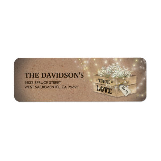Rustic Country Wedding | Baby's Breath Lights Label