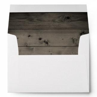 Rustic Country Wedding Barn Wood 5X7 Envelope