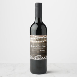 RUSTIC COUNTRY WEDDING | CHEERS TO LOVE WINE LABEL