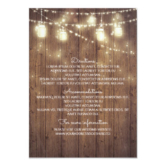 Rustic Country Wedding Details - Information Card
