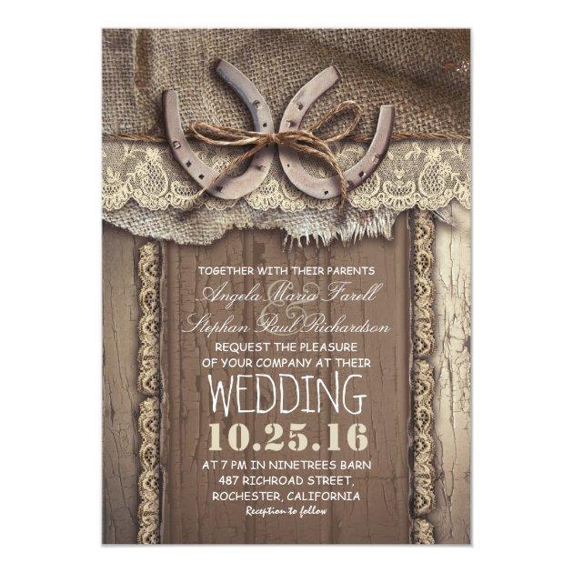 Rustic Wedding Invitation Ideas: 30 Styling Horseshoe Ideas For A Rustic Farm Wedding