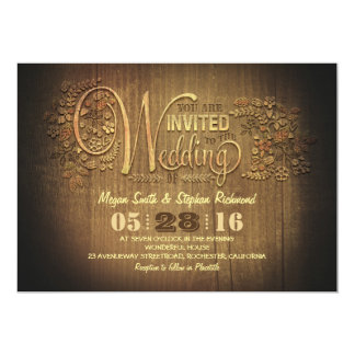 rustic country wedding invitations engraved wood