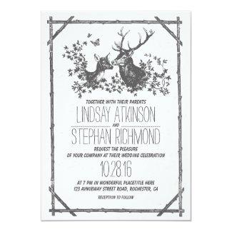 country deer wedding invitations - Deer Wedding Invitations