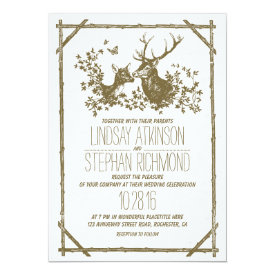 Rustic country wedding invites with deer 5