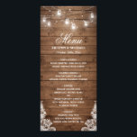 """Rustic Country Wedding Menu 