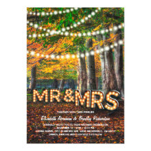 Mr and Mrs Rustic Woodland Tree Wedding Invitations