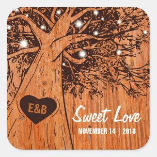 RUSTIC COUNTRY WEDDING | OAK TREE SQUARE STICKER