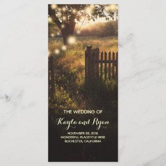 Rustic Country Wedding Programs