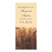rustic country wedding programs