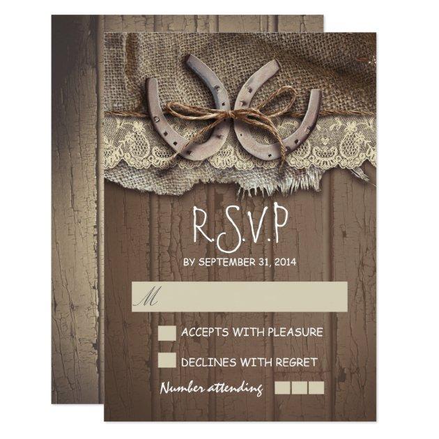 Rustic country wedding RSVP cards | Zazzle.com