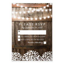 RUSTIC COUNTRY WEDDING RSVP | STRING OF LIGHTS CARD