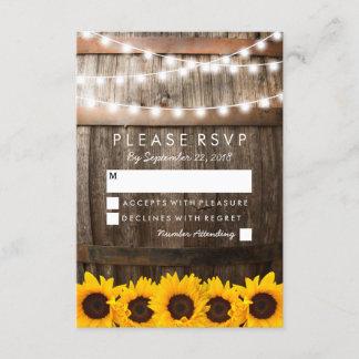 Rustic Country Wedding RSVP | Sunflower Lights
