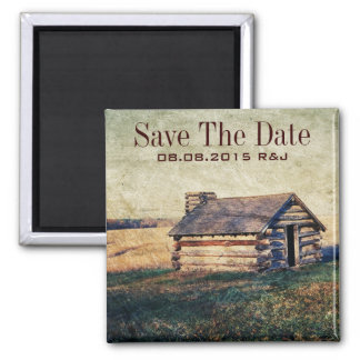 rustic country wedding save the date 2 inch square magnet