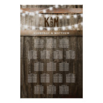 RUSTIC COUNTRY WEDDING SEATING TABLE CHART