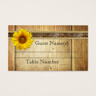Rustic Country Wedding Seating Table Place Card