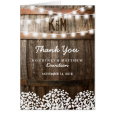 RUSTIC COUNTRY WEDDING | STRING OF LIGHTS THANK YOU CARD