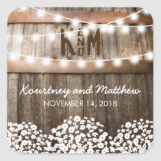 RUSTIC COUNTRY WEDDING | STRING OF LIGHTS STICKERS