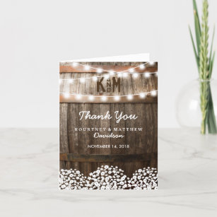 Country Thank You Cards Zazzle