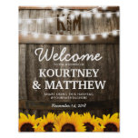 Rustic Country Wedding | Sunflower String Lights Poster