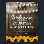 "Rustic Country Wedding | Sunflower String Lights Poster<br><div class=""desc"">SUNFLOWER VINEYARD WEDDING POSTER 