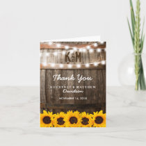 Rustic Country Wedding | Sunflower Thank You