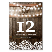 RUSTIC COUNTRY WEDDING TABLE NUMBERS