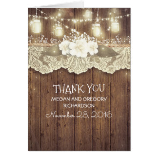 Rustic Country Wedding Thank You
