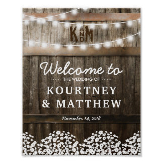 RUSTIC COUNTRY WEDDING WELCOME SIGN