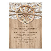 Rustic Country Wedding | Wooden Wheel