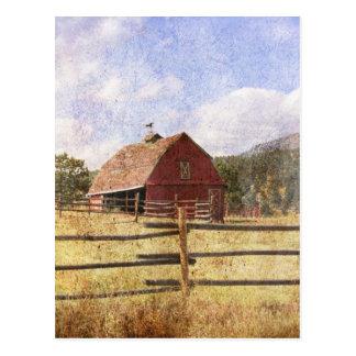 Rustic Country Western Barn Postcard