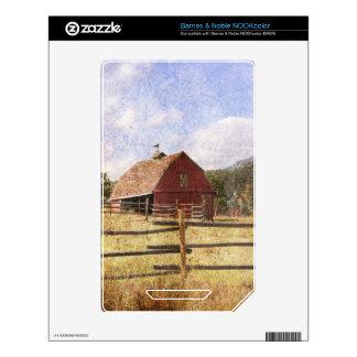 Rustic Country Western Barn NOOK Color Skin