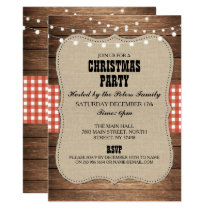 Rustic Country Western Christmas Dinner Day Party Invitation