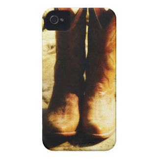 Rustic Country Western Cowboy Boots in Sunlight Case-Mate iPhone 4 Cases