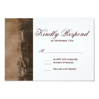 Rustic Country Western Cross Wedding RSVP Cards