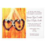 Rustic Country Western Hearts Wedding Invitations