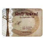 Rustic Country Western Horseshoe Wedding RSVP Card Personalized Announcements