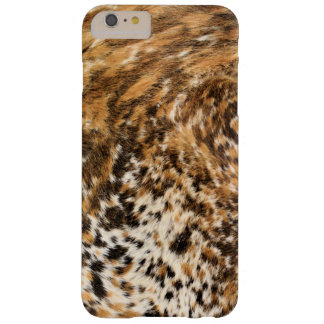 Rustic Country Western Long Horn Cow Hide Pattern Barely There iPhone 6 Plus Case