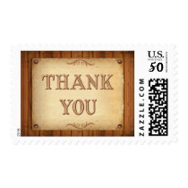 Rustic Country Western Thank You Stamps