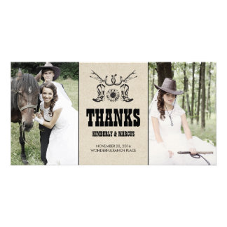 Rustic Country Western Wedding Photo Cards