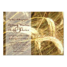 Rustic Country Wheat Field Farm Wedding Invitation 4.5