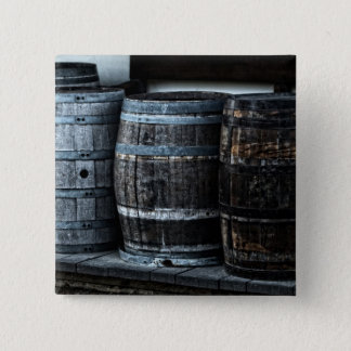 Rustic Country Whiskey Barrels Pinback Button