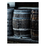 Rustic Country Whiskey Barrels Postcard