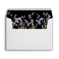 Rustic Country Wildflower Lavender Floral Envelope