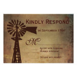 Rustic Country Windmill Farm Wedding RSVP Cards