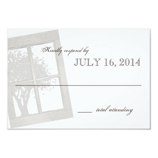 Rustic Country Window Frame Wedding Card