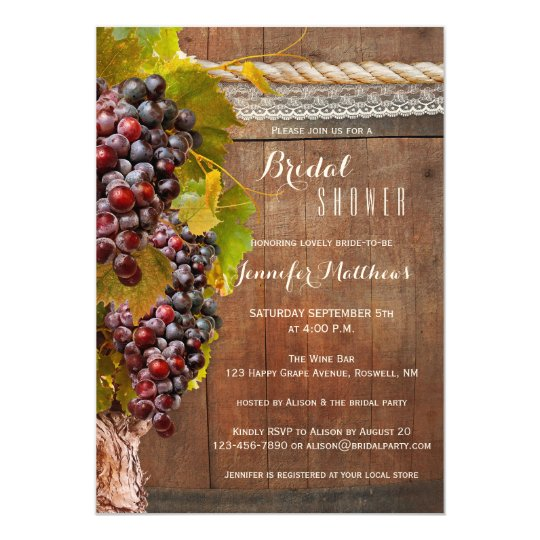 Rustic country wine themed bridal shower invite zazzle rustic country wine themed bridal shower invite filmwisefo