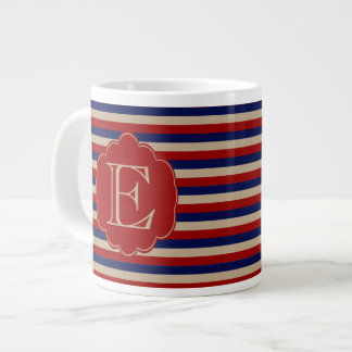 Rustic Country Winter Monogrammed Giant Coffee Mug