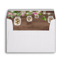 Rustic, country with Mason Jars Envelopes